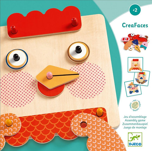 Djeco - Early learning CreaFaces