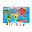 Thumbnail: Magnetic world map puzzle - FRENCH - 92 pieces (wood)
