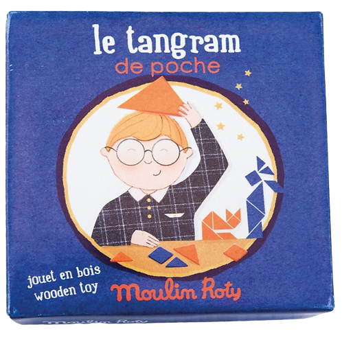 Moulin Roty - Pocket wooden Tangrams
