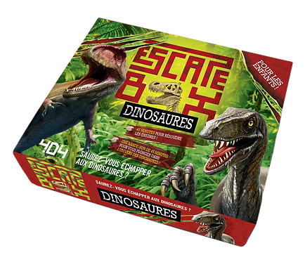 404 Editions - Escape box dinosaures