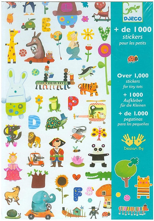 Djeco - 1000 Stickers For Little Ones Novelty