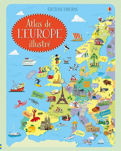 Usborne - Atlas de l'Europe illustré
