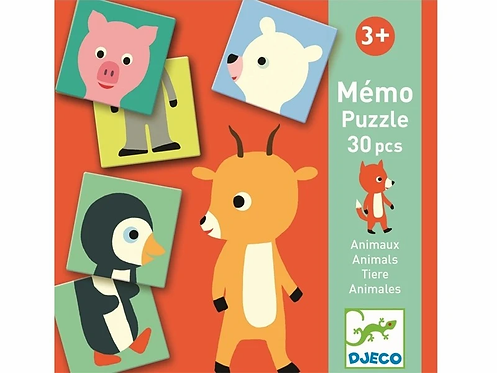 Djeco - First game Mémo puzzle Animals