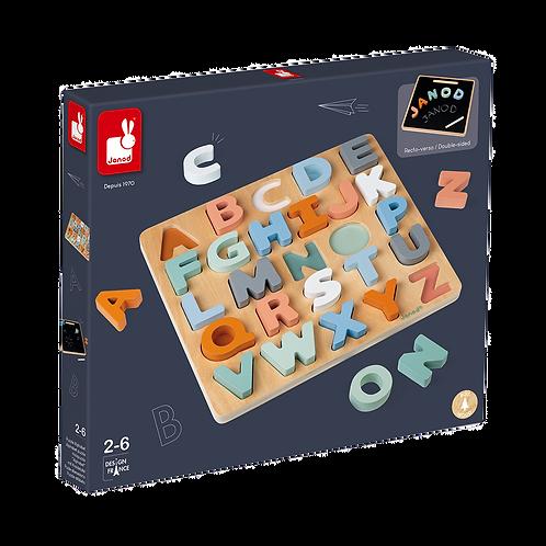 Janod - Sweet cocoon alphabet puzzle