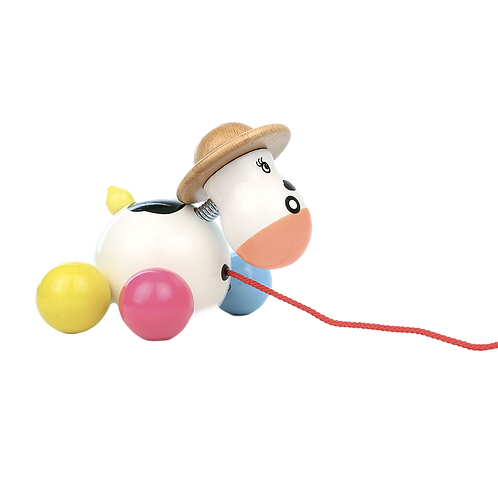 Vilac-Baby rosy cow pull toy