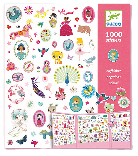 Djeco- 1000 Stickers for the girls