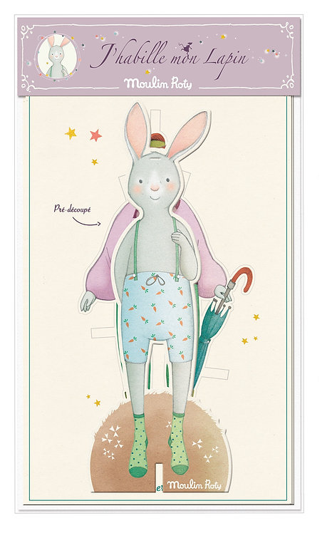 Moulin Roty- J'habille mon lapin