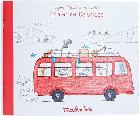 Moulin Roty - Coloring book - C'est Mercredi