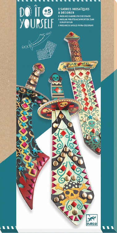 DJECO Like a Pirate Mosaic Swords Craft Kit