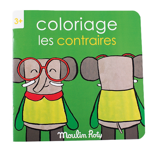 Moulin Roty - Opposite coloring book