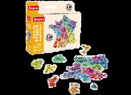 JEUJURA - Cartes de France magnétiques