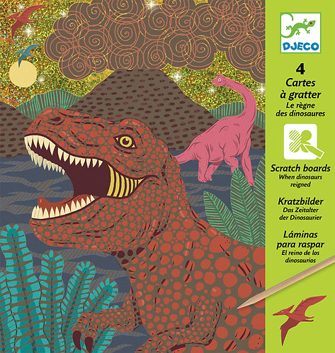 Djeco-When dinosaurs reigned - scratch cards