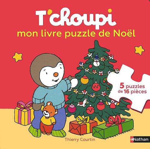 Nathan - T'choupi mon livre puzzle de Noël