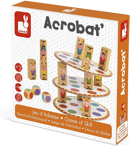 JANOD - Acrobat game of skill - Cardboard and wooden game