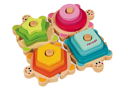 JANOD - Wood stackable turtles - Wooden toy