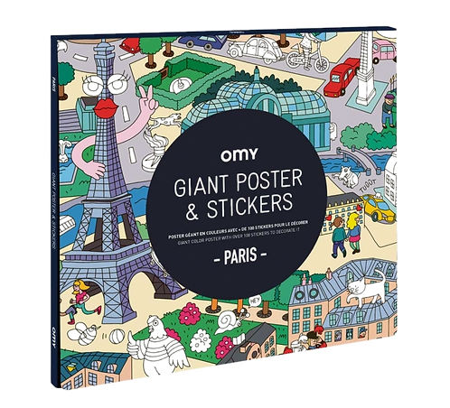 Omy - Giant Coloring Poster & Sickers - PARISP