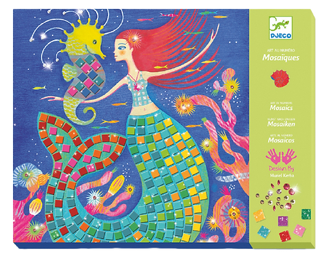 Djeco- The mermaid's song stickers and jewel mosaic