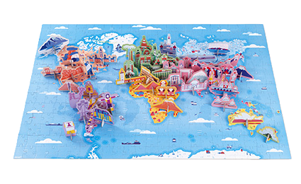 JANOD - Educational puzzle world curiosities - 350 pieces