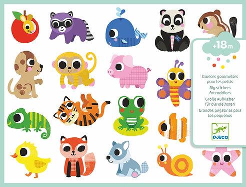 Djeco- PG Stickers baby animals