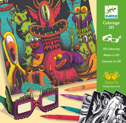 DJECO - Funny freaks - 3D Coloring