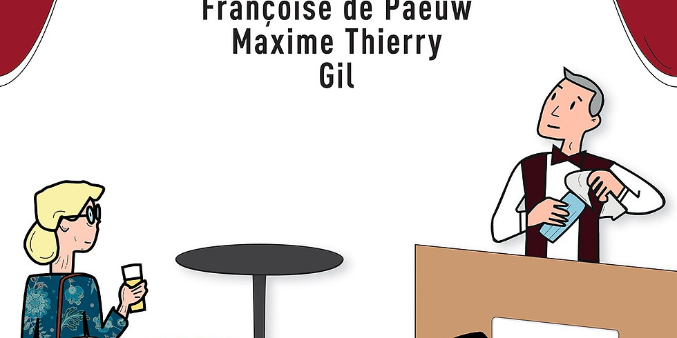 Stam Café - Théâtre avec Françoise de Paeuw - Gil - Maxime Thierry