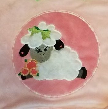 Sweet Lamb applique embroidery design by Pat Williams available at Embroiderydesigns.com