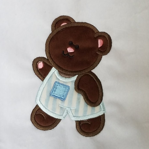 Double applique teddy design by Adorable Ideas available at Embroiderydesigns.com