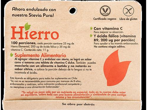 Hierro 100 porciones Dulzura Natural