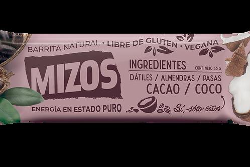 Barrita natural sabor Cacao Coco