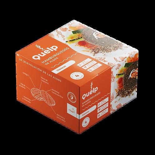 hamburguesas de algas clasica Quelp 4 unidades.