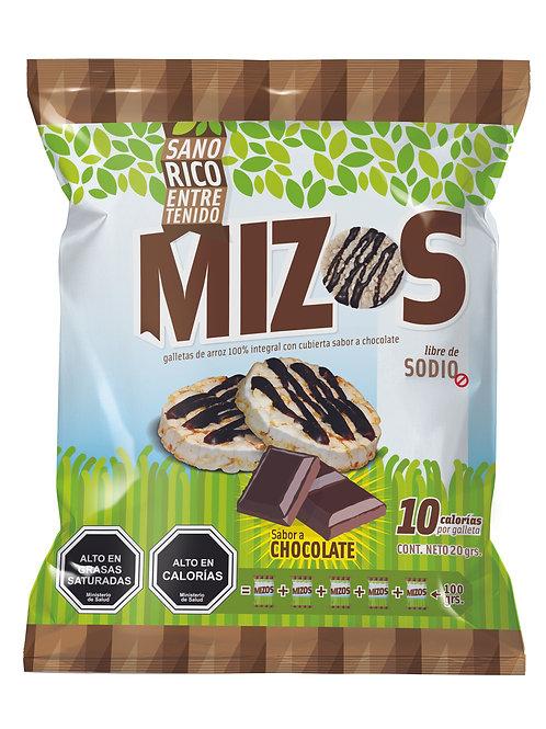 Galletas de arroz Mizos Chocolate