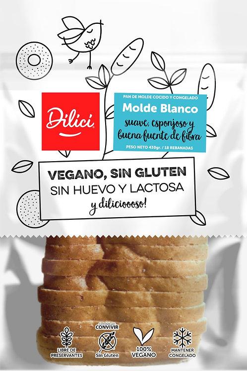 Pan de molde blanco Dilici 430g.
