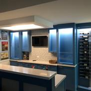 Basement Wine Display Bar