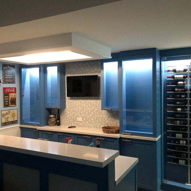 Basement Wine Display Bar