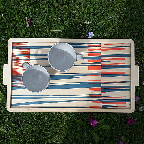 screen printed plywood tray by Georgia Bosson