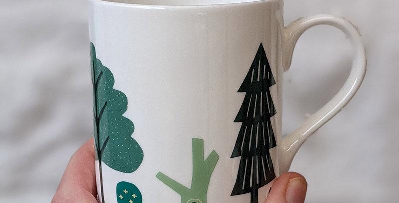 Trees bone china mug