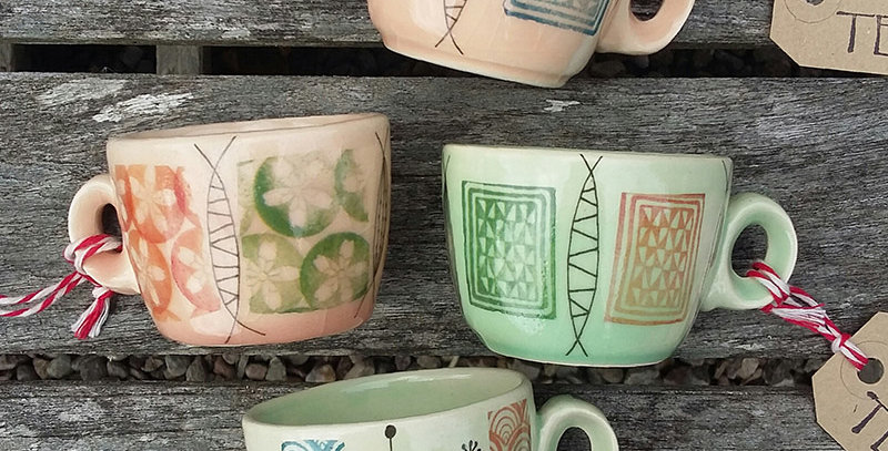 mid-century inspired espresso cups - by Tessuti Scotland