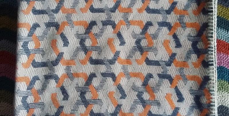 organic cotton throw - geometric