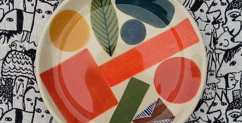 Autumn Leaf stoneware plate by Donna Wilson