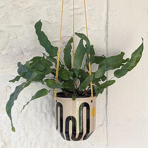 stoneware hanging planter