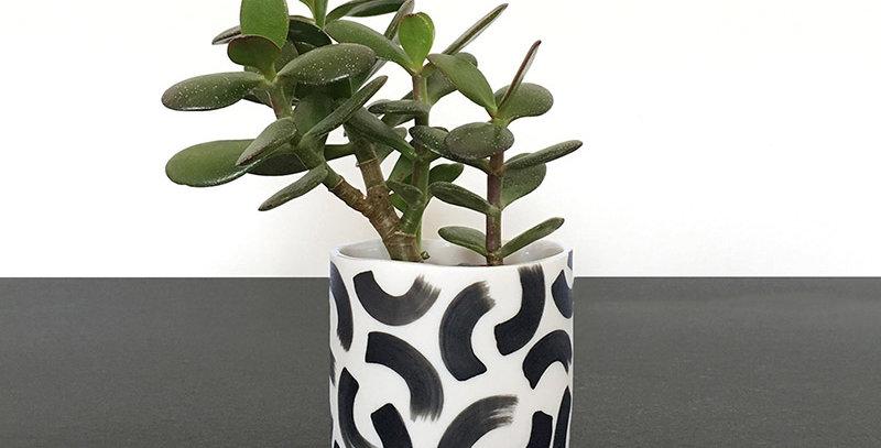 hand painted parian porcelain pot by Steph Liddle