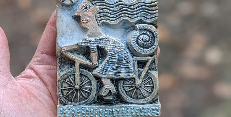 Picnic Blanket - ceramic relief by Hilke MacIntyre