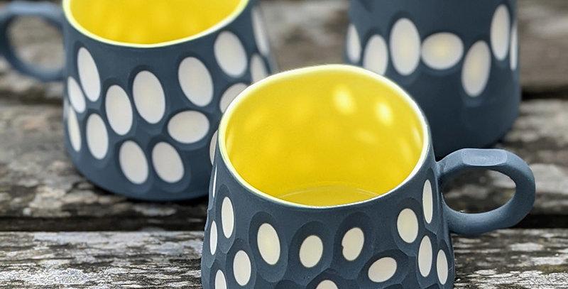 charcoal cut porcelain mug or pourer by Gavin Burnett