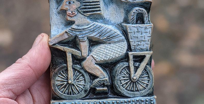 Picnic Basket - ceramic relief by Hilke MacIntyre
