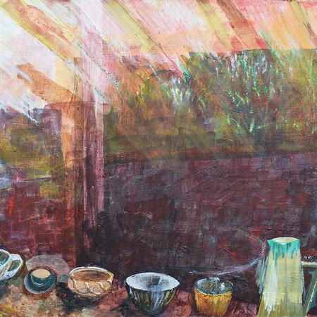 Tea Bowls on the Window
