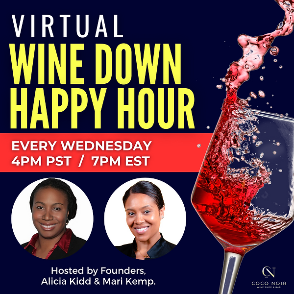 Virtual Wine Happy Hour Event - CoCo Noir Wine Shop & Bar