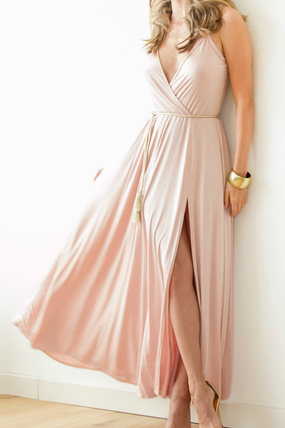 boho bridesmaid maxi dress