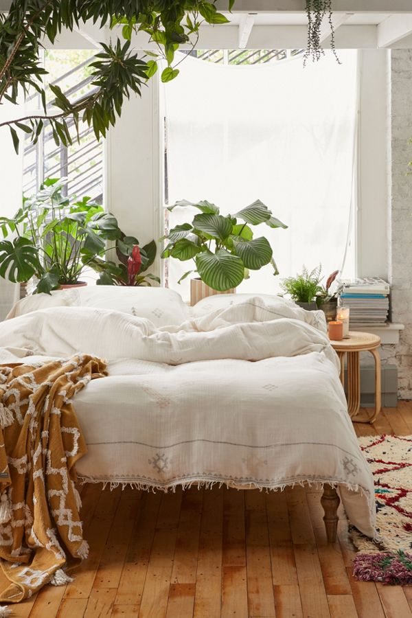 Uno Symbology Gauze Duvet Cover   Urban Outfitters