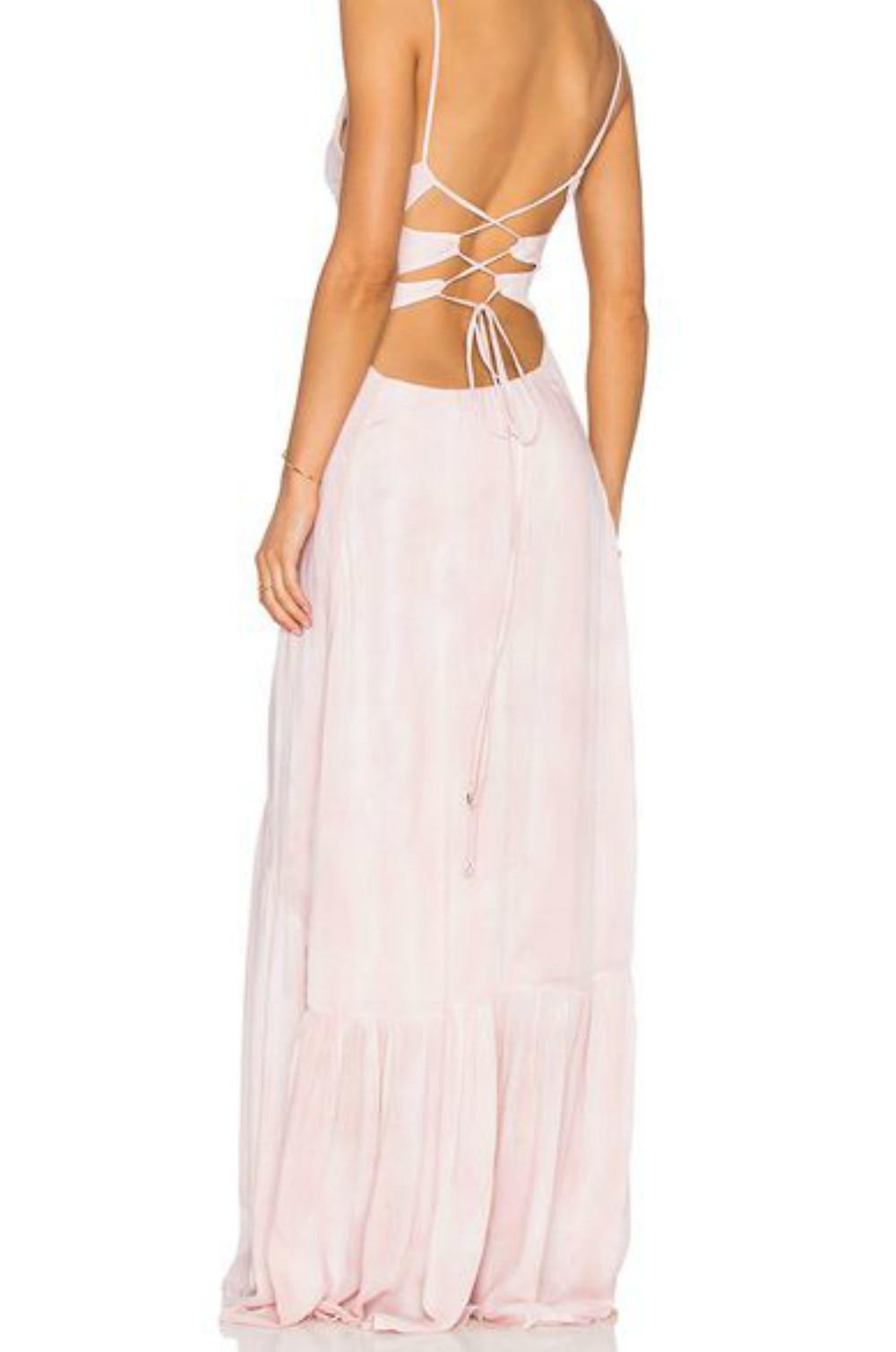 blush maxi boho dress