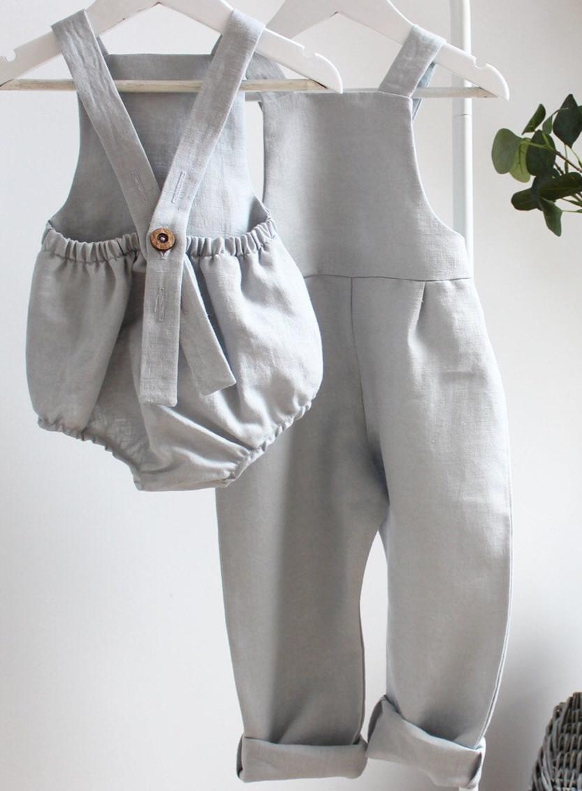 Handmade Baby & Kids Clothes Linen Romper & Overalls